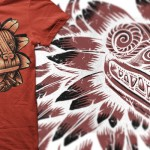 aztec dragon on poppy colour