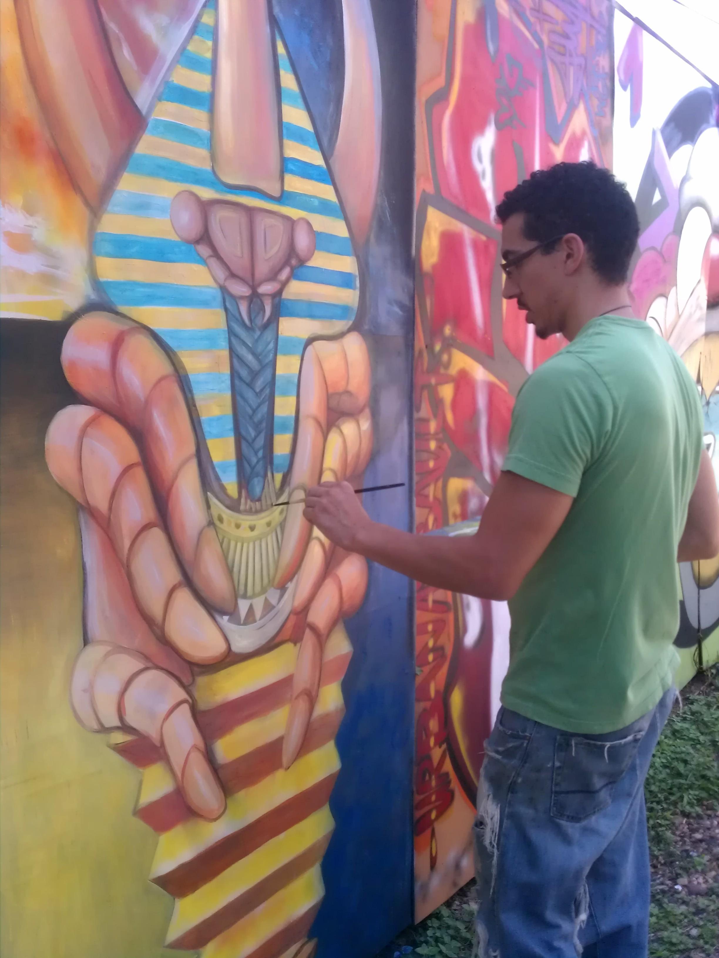pupa mural progress