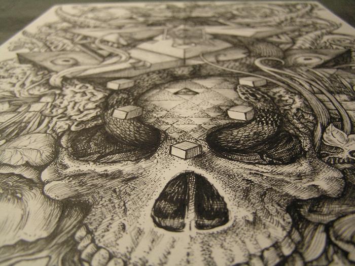 Fractal Skull 2 detail 4