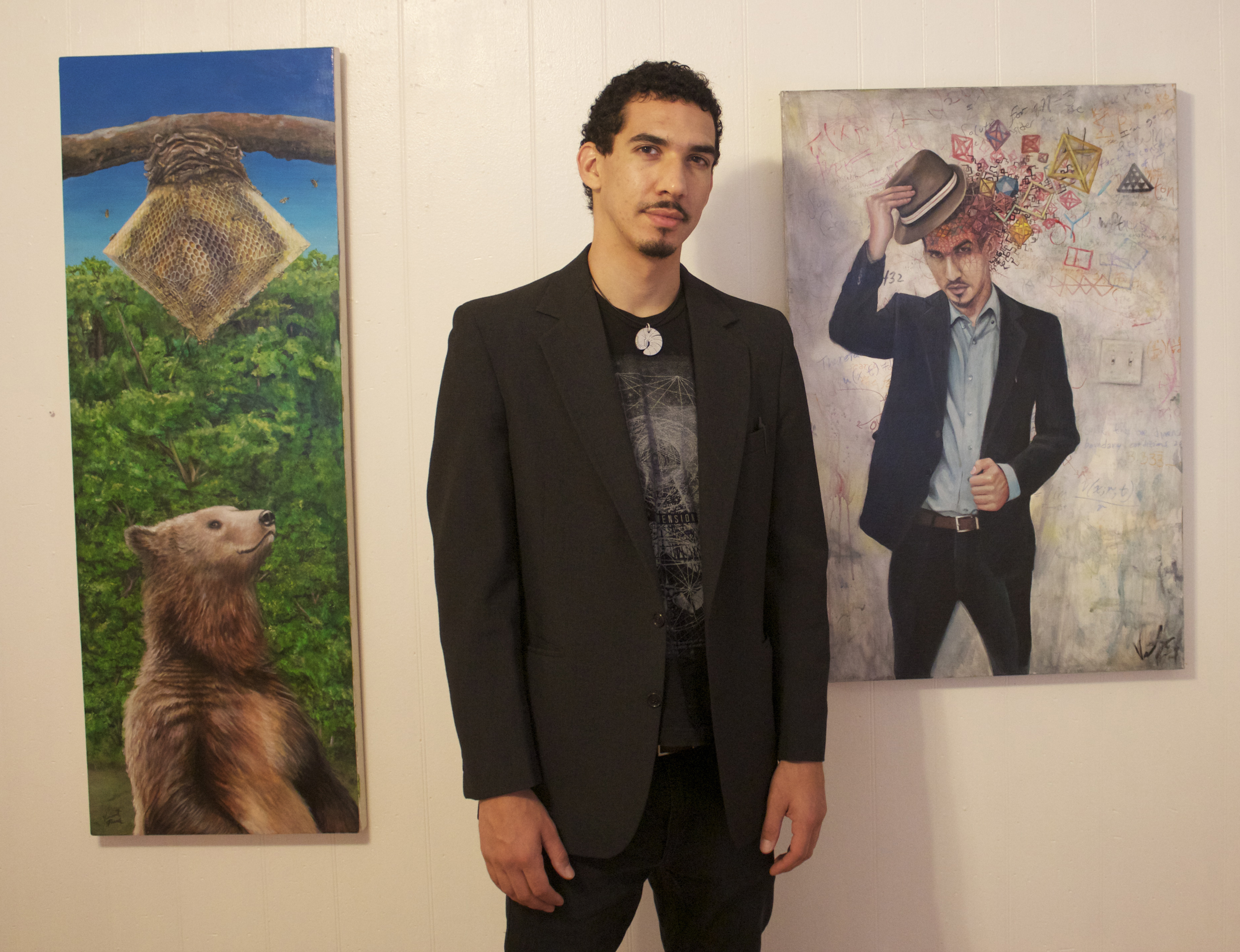 At my 1st Solo show at a Gallery!