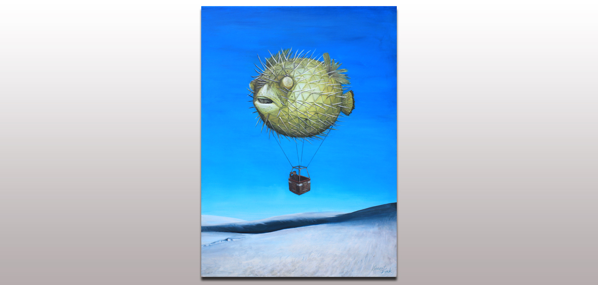 048 Pufferfish Hotair-balloon Ride Over White Sands