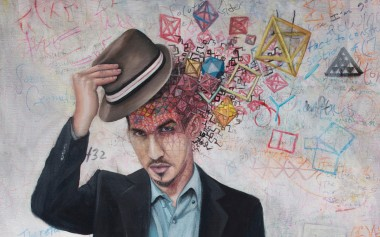 vincent fink tips his hat with sacred geometry spilling out